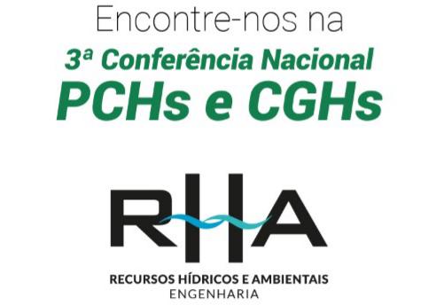RHA Engenharia participará da 3ª Conferência Nacional de PCHs e CGHs entre os dias 8 e 10 de maio
